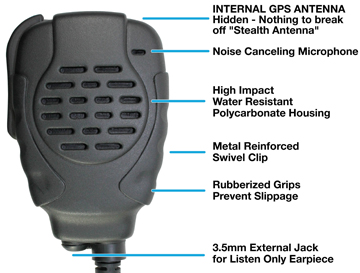 TROOPER II GPS - Waterproof GPS Speaker Microphones for Kenwood and ICOM systems