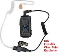 BTH-LMIC - Bluetooth Lapel Microphone designed for professional users with 12 hour talk-time, and built-in wireless PTT.