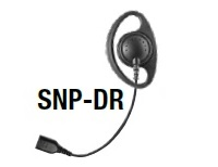 Replacement Parts: D-Ring earphone with Braided Fiber Cable and SNAP connector.