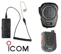 PrymeBLU Headsets, Speaker Mics & PTT Switches for ICOM Radios (models with Built-in Bluetooth ONLY)