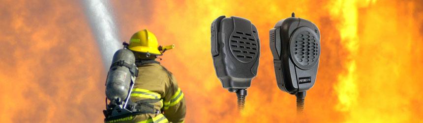 Trooper II Noise Canceling Water Proof Speaker Mic for ICOM 2-Pin w// Lock Screws