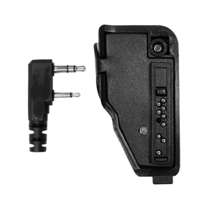 PA-TK0111 Adapts Kenwood Multipin (TK series) radio to 2 pin (x01) Kenwood side connector accessory.
