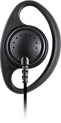 "<B>""SCOUT"" EH-1200 Series(SC/XC/X) - Medium Duty Earphone: </b>LISTEN ONLY D-style earphone available with coiled or straight cable in three different cable lengths."