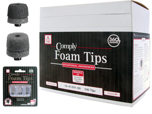 Comply Foam Tips - For Maximum Comfort