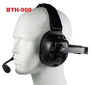 <strong>Bluetooth Ear Muff:</strong> Rugged Over-the-head headset with noise-cancelling boom mic and padded speaker. Includes USB charging cable and wall changer.</p>