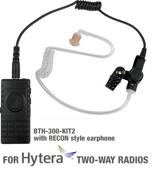 BTH-300 Bluetooth microphone kits for HYTERA 2-way radios, 9 different versions! Includes built-in wireless PTT. Includes charger kit.</p>