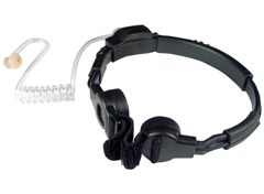 <b>GLADIATOR SPM-1500 Series</b> - Heavy Duty Throat Microphone. Dual microphone elements pick up sound directly from users throat, so very little ambient noise is heard.