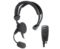 <b>&quot;COMMANDER&quot; SPM-2400 Series - Over-the-Head Headset: </b>Single-earphone headset with adjustable headband and boom microphone. Locking PTT for VOX operation.