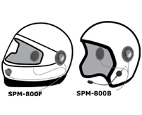 "<b>""HIGHWAY"" SPM-800(B/F) Series - Motorcycle Helmet Microphone:</b> Motorcycle Helmet kit with Dual High Output Speakers. Available for either full or half-face helmets."
