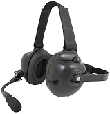 <b>HDS-EM Series - Dual Earmuff Headset</b>: Racing style dual-muff headset perfect for racing intercom, avionics, and industrial use. INDEPENDENTLY CERTIFIED NRR 23dB.