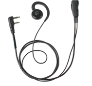<b><span style='color: blue;'>PRO-GRADE Series</span> LMC-1GH Series Lapel Microphone with SWIVEL (we call G-Hook) Earpiece that can be used on either ear and is easy to clean and use.</b>