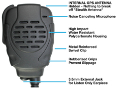 <b><span style='color: red;'>NEW</span> &quot;TROOPER II GPS&quot; New Waterproof GPS Speaker Microphones for Kenwood and ICOM systems