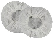 <b>P-EM-HYG</b>: DISPOSABLE CLOTH Ear Pad Covers (pair) - Fits HDS and HBB models with Foam or Gel Ear Pads.
