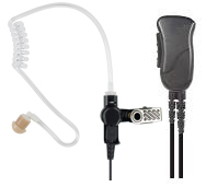 MIRAGE Series  - Surveillance Kit for Cellphones and Tablets , Lapel Mic Style (1-wire) with Noise Reducing Mic element and Clear Tube Earphone.