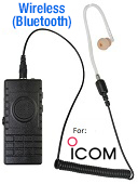 BTH-300-IC Bluetooth microphone kits for ICOM Amateur radios, 9 different versions! Wireless PTT. Includes charger kit.