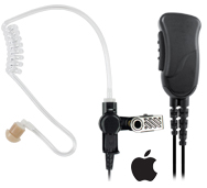 MIRAGE SPM-1399A - Surveillance kit for cellphones and tablets, lapel mic style (1-wire) with noise reducing mic element and clear tube earphone.