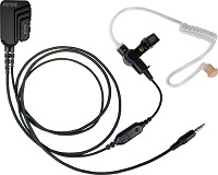 "Pryme PICO Surveillance Kit with ""SMART"" PTT Button. BRAIDED FIBER with noise reducing mic element for phones and tablets </strong></p>"