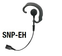 Replacement Parts: RESPONDER- Soft Earhook earphone with Braided Fiber Cable and SNAP connector.